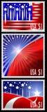 De zegels van de V.S. met abstract Amerikaans vlagontwerp Stock Afbeelding