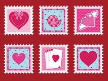 De zegels van de valentijnskaart Royalty-vrije Stock Afbeelding