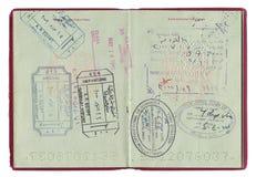 De zegels van het paspoort Stock Fotografie