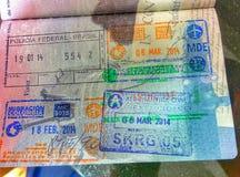 De Zegels van het paspoort Royalty-vrije Stock Afbeelding