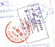 De Zegels van het paspoort Stock Afbeeldingen