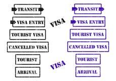 De zegels van het visum Royalty-vrije Stock Afbeeldingen