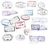 De zegels van het visum royalty-vrije illustratie