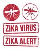 De zegels van het Zikavirus Stock Afbeelding