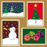 De zegels van Kerstmis Royalty-vrije Stock Fotografie