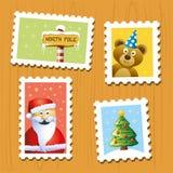 De zegels van Kerstmis Stock Foto's