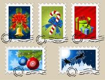 De Zegels van Kerstmis Stock Foto