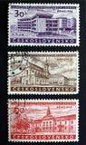 De zegels van Tsjecho-Slowakije Stock Foto's