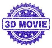 De Zegelverbinding van de Grunge 3D FILM Royalty-vrije Illustratie
