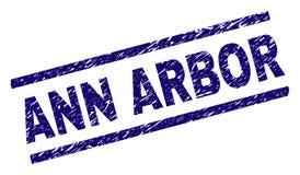 De Zegelverbinding van Grunge Geweven ANN ARBOR stock illustratie