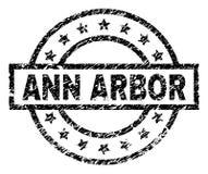 De Zegelverbinding van Grunge Geweven ANN ARBOR royalty-vrije illustratie