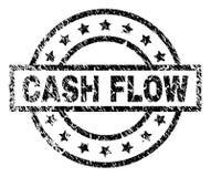 De Zegelverbinding van de Grunge Geweven CASH FLOW royalty-vrije illustratie
