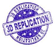 De Zegelverbinding van de Grunge Geweven 3D REPLICATIE royalty-vrije illustratie