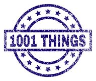 De Zegelverbinding van Grunge Geweven 1001 DINGEN Royalty-vrije Stock Fotografie