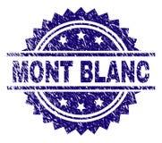 De Zegelverbinding van Grunge Geweven MONT BLANC vector illustratie