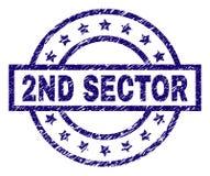 De Zegelverbinding van de Grunge Geweven 2ND SECTOR vector illustratie