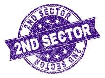 De Zegelverbinding van de Grunge Geweven 2ND SECTOR royalty-vrije illustratie