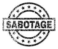 De Zegelverbinding van de Grunge Geweven SABOTAGE stock illustratie