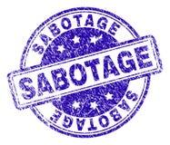 De Zegelverbinding van de Grunge Geweven SABOTAGE vector illustratie