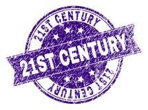 De Zegelverbinding van de Grunge Geweven 21ST EEUW royalty-vrije illustratie