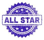De Zegelverbinding van Grungeall star Stock Afbeelding