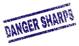 De Zegelverbinding van het Grunge Geweven GEVAAR SHARPS stock illustratie