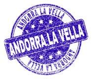 De Zegelverbinding van La VELLA van Grunge Geweven ANDORRA stock illustratie