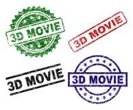 De Zegelverbindingen van de Grunge Geweven 3D FILM Stock Illustratie