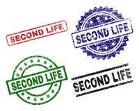 De Zegelverbindingen van Grunge Geweven SECOND LIFE stock illustratie