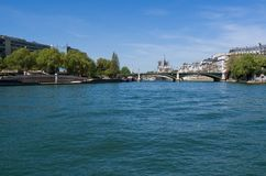 De Zegenrivier in Parijs, Frankrijk stock afbeeldingen