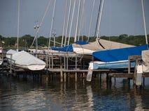 De zeilboot glijdt Hoogtepunt uit Royalty-vrije Stock Afbeelding