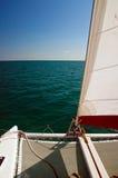 Varende Catamaran Royalty-vrije Stock Foto's
