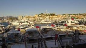De Zeilenfestival 12 September 2017 van Cannes stock videobeelden