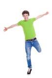 De zekere tiener bewapent uitgestrekt Stock Foto's
