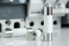 De Zekeringen van de cilindercontrole Stock Afbeeldingen