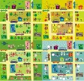 De zelfde straat tijdens 4 seizoenen Stock Afbeeldingen