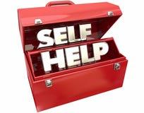 De zelfhulpverbetering Toolbox van middelen voorziet Raad Stock Foto
