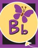 De zelfstandige naamwoorden van de Brief B van de Kaart van de flits royalty-vrije illustratie