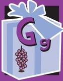 De zelfstandige naamwoorden van de Brief G van de Kaart van de flits stock illustratie