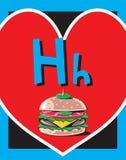 De zelfstandige naamwoorden van de Brief H van de Kaart van de flits stock illustratie