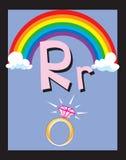 De zelfstandige naamwoorden van de Brief R van de Kaart van de flits Stock Foto