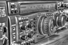 De zendontvanger van de hoge frequentie radioamateur in zwart-wit royalty-vrije stock foto's