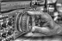 De zendontvanger van de hoge frequentie radioamateur in zwart-wit royalty-vrije stock foto