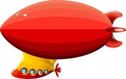 De zeppelin van het beeldverhaal vector illustratie