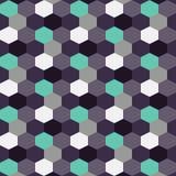 De zeshoek bosbessen van de achtergrondpatroonkleur Royalty-vrije Stock Afbeeldingen