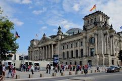 De zetel van het Duitse parlement in Berlijn royalty-vrije stock fotografie