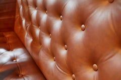 De zetel van het luxeleer Stock Afbeeldingen