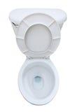 De zetel van het toilet die op wit wordt geïsoleerdp stock afbeelding