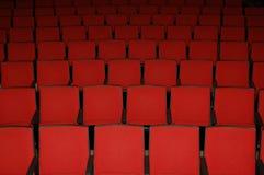 De zetels van de bioscoop royalty-vrije stock afbeeldingen