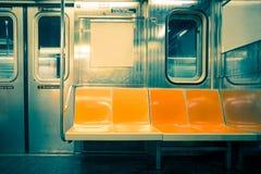 De Zetels van de de StadsMetro van New York Royalty-vrije Stock Fotografie